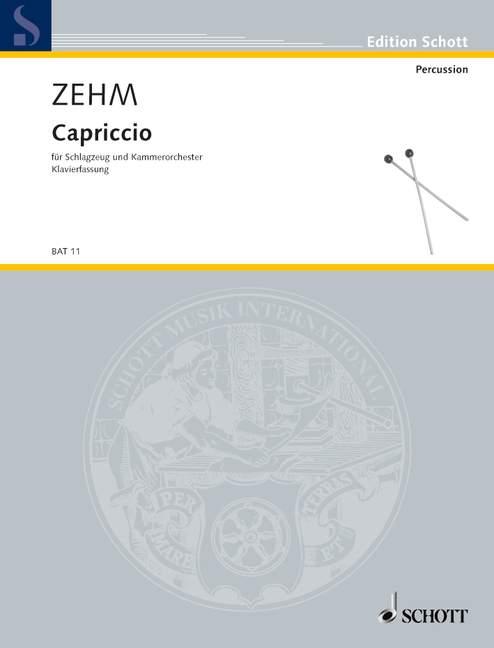 Capriccio Zehm, Friedrich Piano Réduction Avec Solo Partie Percussion Solo Et Cha-afficher Le Titre D'origine ChronoméTrage Ponctuel